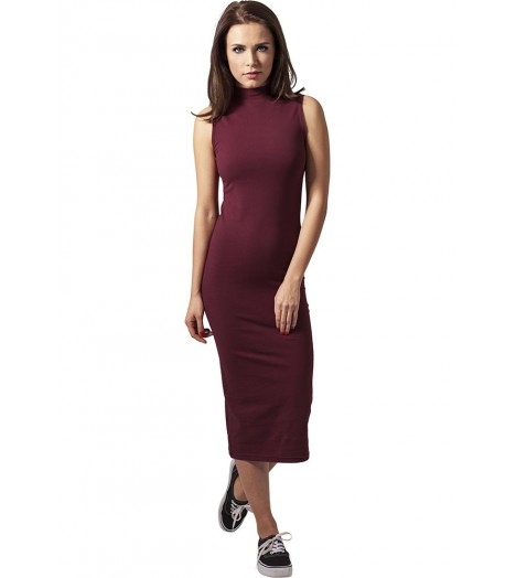Robe Longue Urban Classics Bordeaux Jersey Stretch