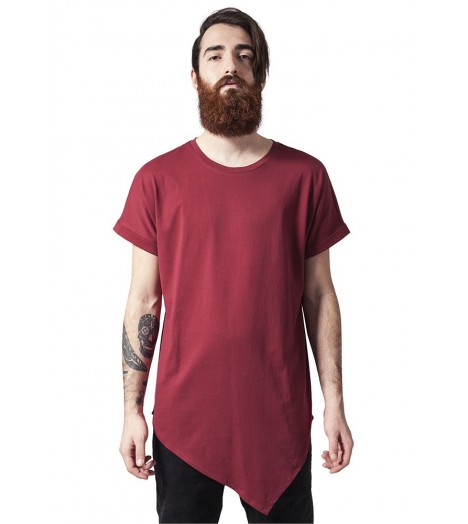 T-shirt Long Asymétrique Urban Classics Bordeaux