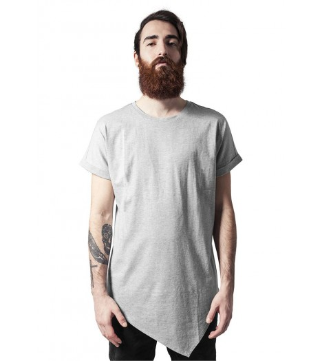 T-shirt Long Asymétrique Urban Classics Gris