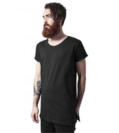 Tee-shirt Long Urban Classics Noir Side Zip