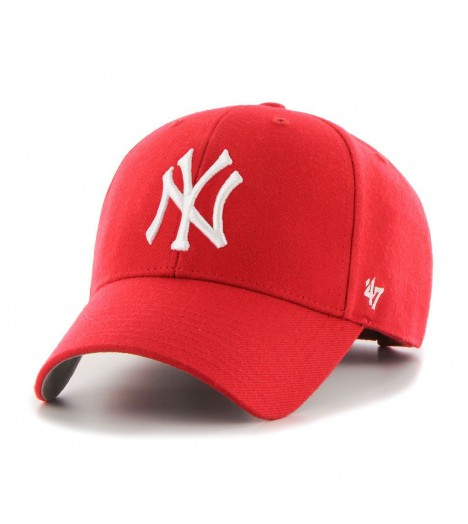 Casquette 47 Brand New York Yankees MVP Rouge