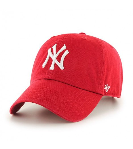Casquette 47 Brand New York Yankees Vintage Clean Up Rouge