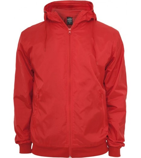 Coupe-vent URBAN CLASSICS Rouge Imperméable en Nylon