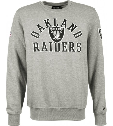 Sweat Crewneck New Era Oakland Raiders SuperScript Gris