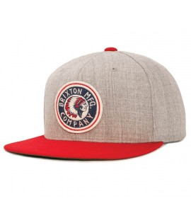 Casquette Brixton Rival Indian Snapback Gris Rouge