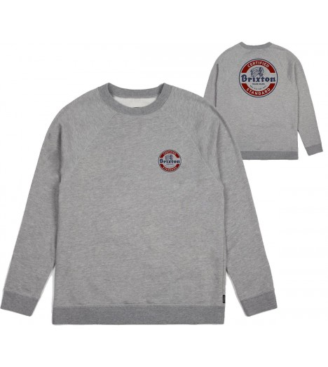 Sweat Brixton Soto Crewneck Indian Gris