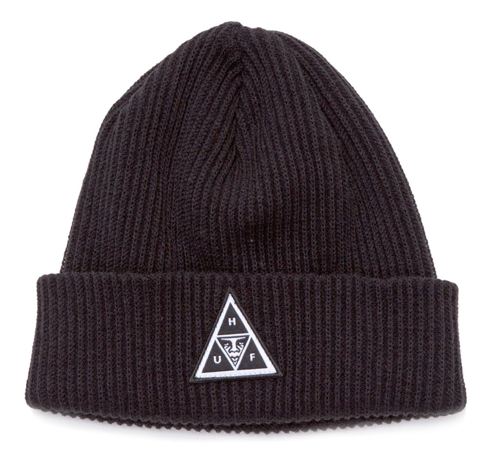 Bonnet Obey x HUF Triple Triangle Beanie Noir