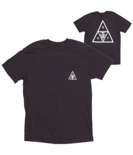 T-shirt Obey x HUF Triple Triangle Tee Noir