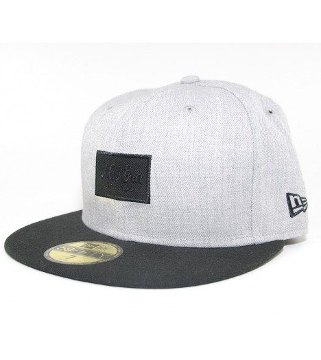 Casquette New Era 59Fifty Heather Patched Gris Noir