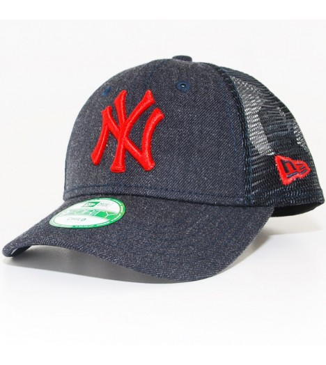 Casquette Trucker Enfant New Era Child 940 NY Yankees Bleu Denim