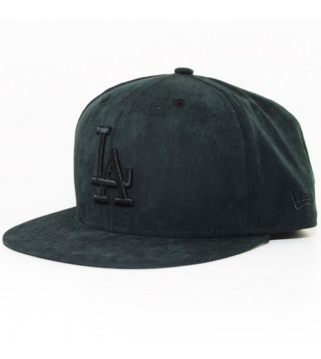 Casquette New Era LA Dodgers Aspect Daim Noir