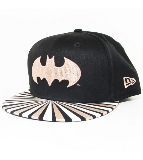 Casquette Femme New Era Metallic Bat Girl Noir Bronze
