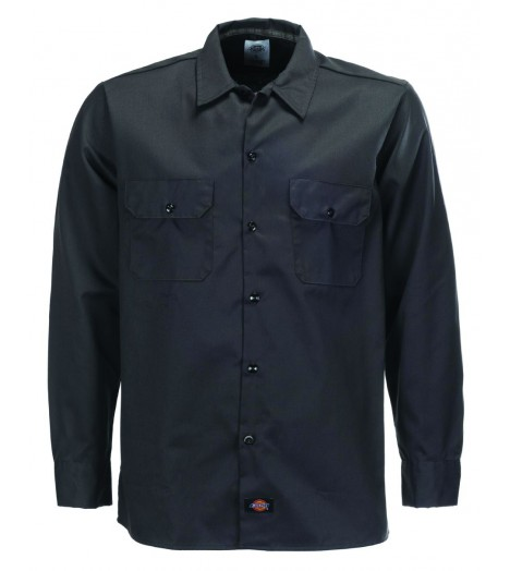 Chemise Dickies Noir Slim Manches Longues WL576