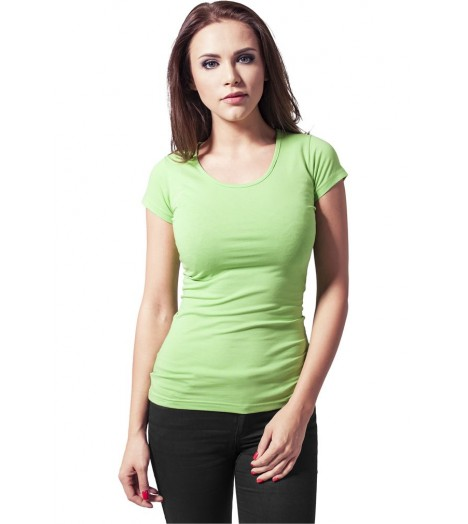 T-shirt URBAN CLASSICS Vert lime Coton Stretch à manche courte