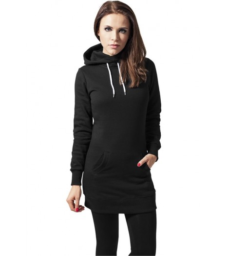 Sweat Long A Capuche URBAN CLASSICS Ladies Noir
