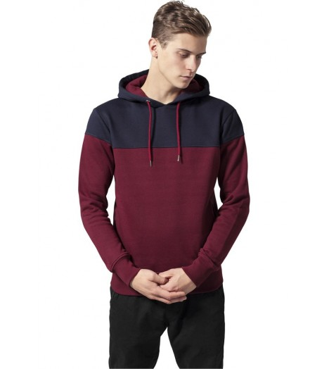 Sweat Capuche Urban Classics Bordeaux Block Hoody