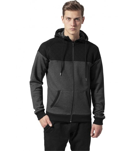 Sweat Zippé Urban Classics Noir Diamond Block Hoody