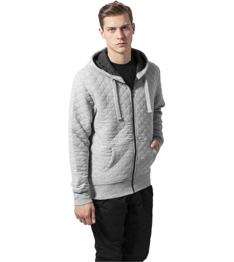 Sweat zippé Urban Classics Gris Diamond