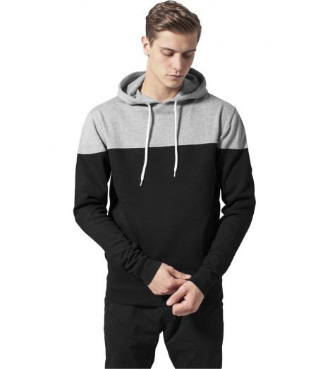 Sweat Urban Classics Noir Gris Block Hoody