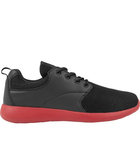 Baskets Urban Classics Femme Light Runner Noir Rouge