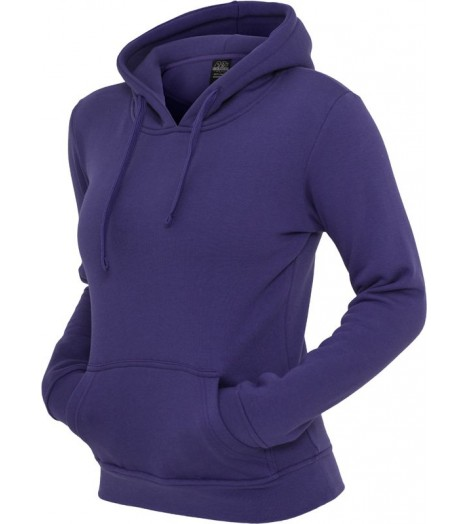 Sweat à capuche URBAN CLASSICS Violet Basic molletonné