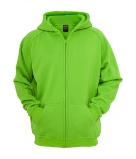 Sweat zippé URBAN CLASSICS Kids Vert lime large/ample Basique