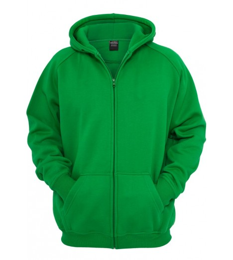 Sweat zippé URBAN CLASSICS Kids Vert large/ample Basique