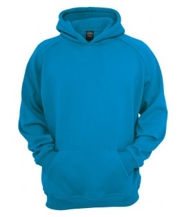 Sweat à capuche URBAN CLASSICS Kids Turquoise large/ample
