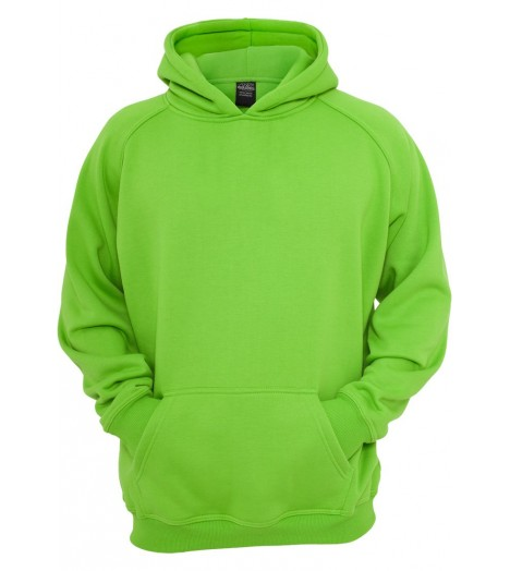 Sweat à capuche URBAN CLASSICS Kids Vert lime large/ample