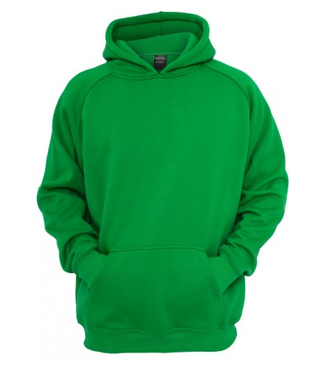 Sweat à capuche URBAN CLASSICS Kids Vert large/ample Basqiue