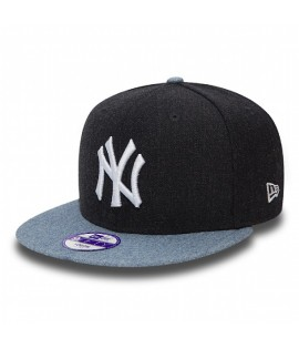 Casquette Ado New Era NY Yankees Contrast Heather Bleu Marine