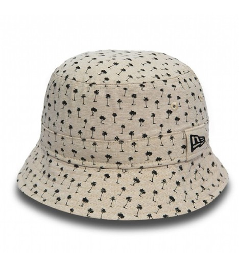 Bob New Era Micro Palm Bucket Hat Beige