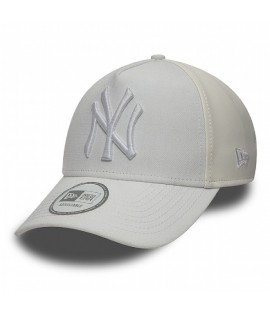 Casquette Trucker New Era NY Yankees PU Mid A Frame Blanc