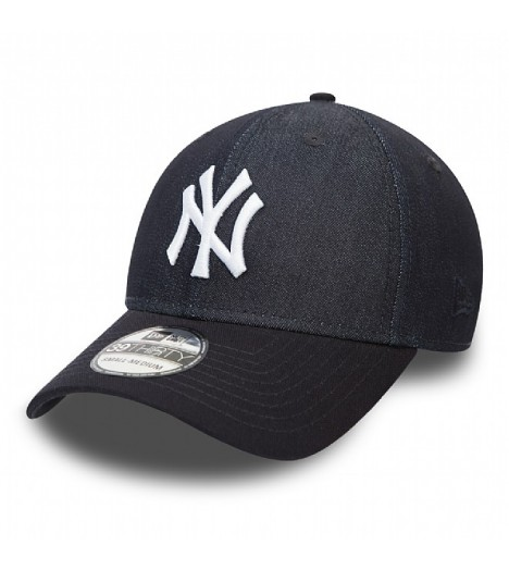 Casquette New Era 3930 NY Yankees Stretch Canvas Bleu Marine