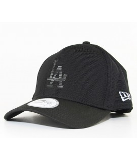 Casquette Trucker New Era LA Dodgers Meshed Logo Noir Mesh