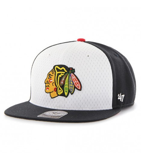 Casquette 47 Brand Chicago Blackhawks Backboard Blanc-Noir