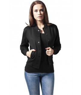 Veste Teddy URBAN CLASSICS Ladies Noir / Blanc College