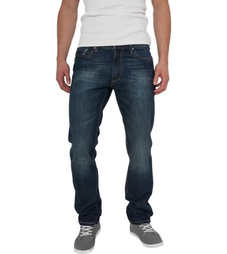 Jeans Straight Fit URBAN CLASSICS coupe droite Bleu denim