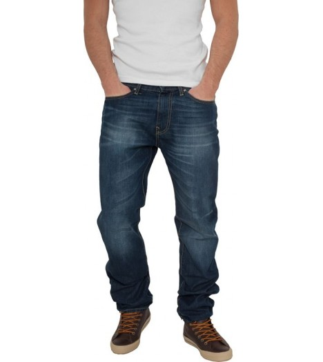 Jeans Relaxed Fit URBAN CLASSICS Bleu denim coupe décontractée