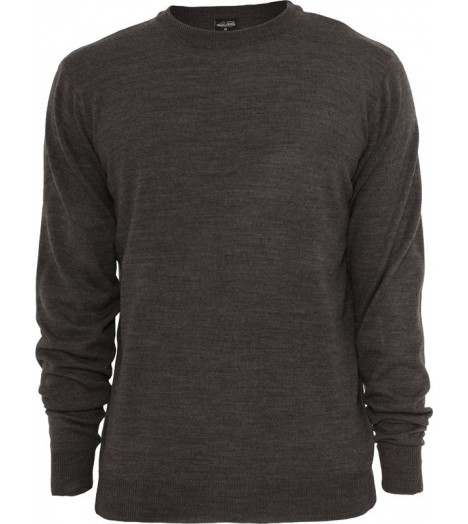Pull toucher Cashmere URBAN CLASSICS col rond Charbon