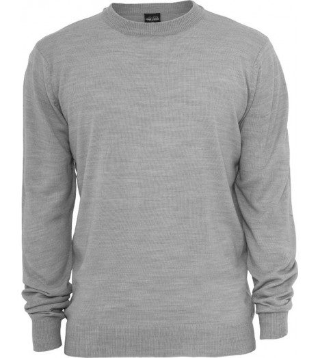 Pull toucher Cashmere URBAN CLASSICS col rond Gris