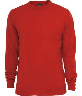 Pull toucher Cashmere URBAN CLASSICS col rond Rouge