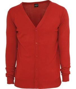 Pull Cardigan URBAN CLASSICS toucher Cashmere Rouge
