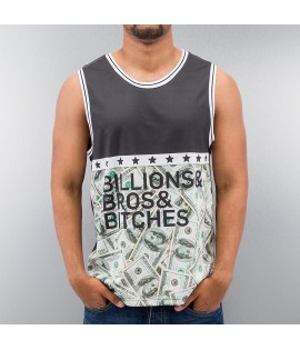 Débardeur Just Rhyse Billions Bros Bitches Tank Top Noir