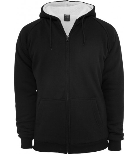 Sweat zippé URBAN CLASSICS fourrure imitation mouton Noir