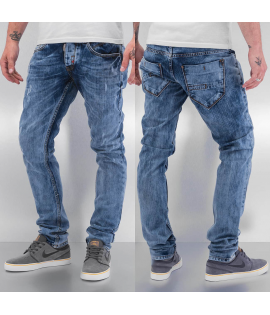 Jean Cazzy Clang Acid Wash Straight Fit Blue