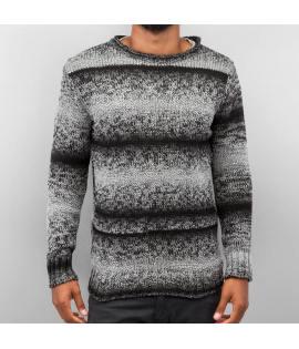 Cazzy Clang *B-Ware* Two Tone Sweater Black/Grey
