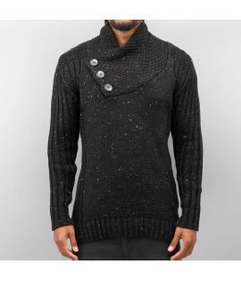 Cazzy Clang *B-Ware* Three Buttons Sweater Black
