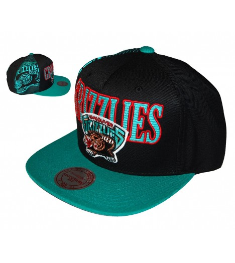 MITCHELL & NESS Snapback Laser GRIZZLIES Vancouver Noir / Turquoise