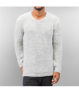Pull Just Rhyse Knit Beige Gris